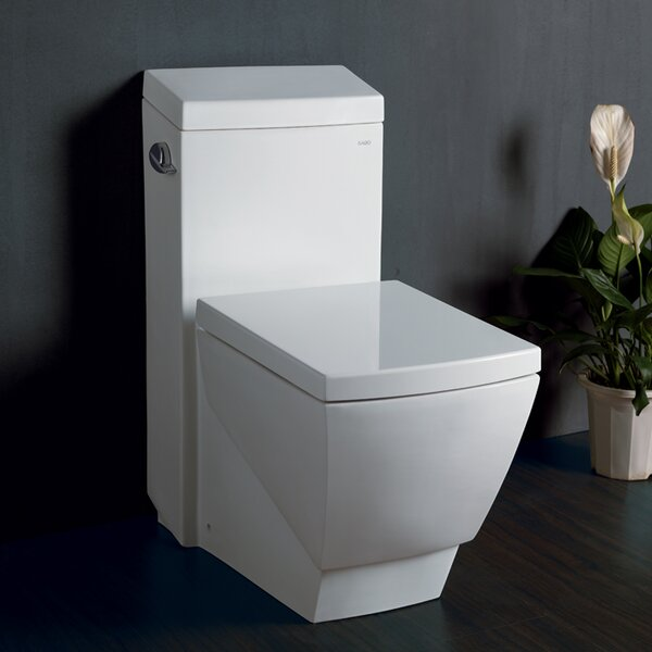 Aphrodite Contemporary 1.3 GPF Elongated One-Piece Toilet by Ariel Bath