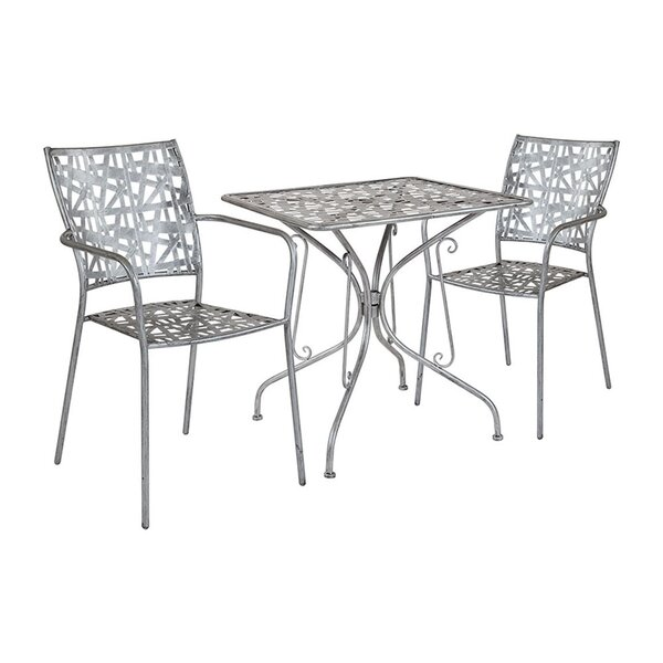 Freund Square 3 Piece Bistro Set by Ebern Designs