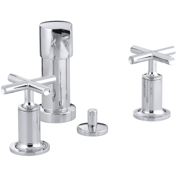 Purist Vertical Spray Bidet Faucet with Cross Handles by Kohler