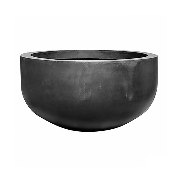 Creasey Round Fiberstone Pot Planter by 17 Stories