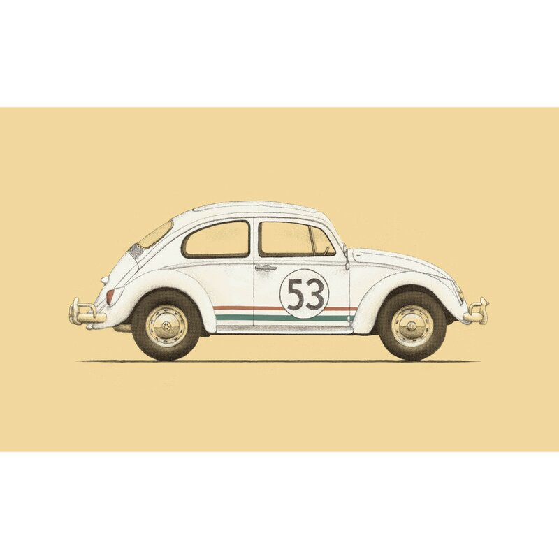 HERBIE Shape Car Decals// Stickers for car Windows Walls Etc..x 1