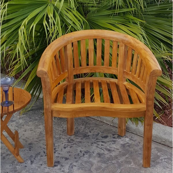 Meyer Teak Patio Dining Chair by Bay Isle Home