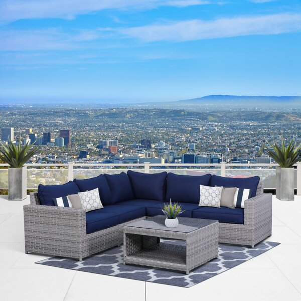 Kordell 6 Piece Sectional Seating Group With Cushions By Sol 72 Outdoor by Sol 72 Outdoor Herry Up