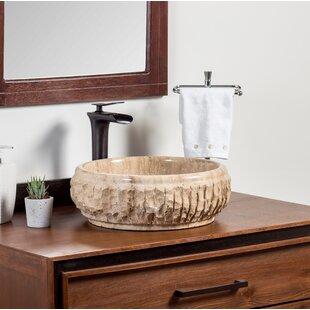 Karesi Stone Circular Vessel Bathroom Sink ByLaguna Marble