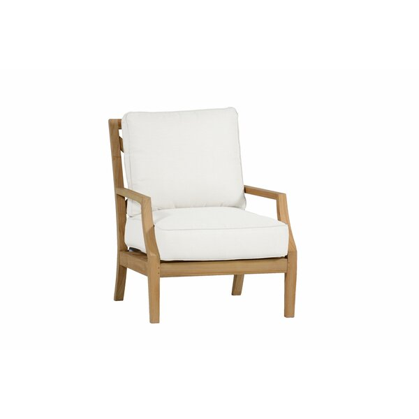 Haley Teak Patio Chair with Cushions by Summer Classics