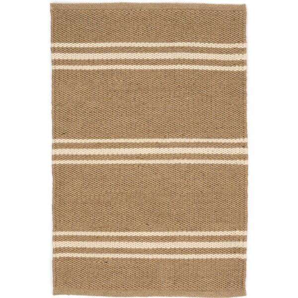Lexington Hand Woven Beige Indoor/Outdoor Area Rug by Dash and Albert Rugs