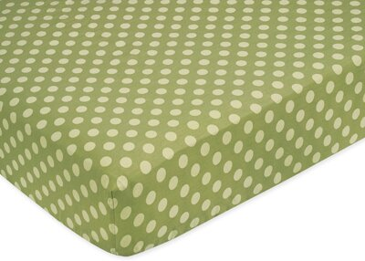 Forest Friends Polka Dot Fitted Crib Sheet by Sweet Jojo Designs