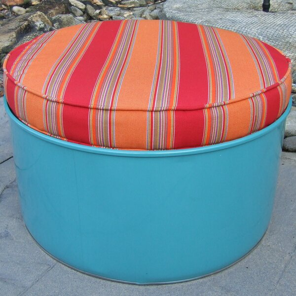 Sacha Ottoman with Cushion by Millwood Pines