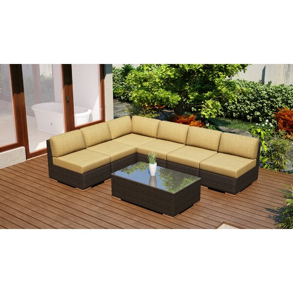 Hodge 7 Piece Sectional Set with Cushions by Rosecliff Heights Rosecliff Heights