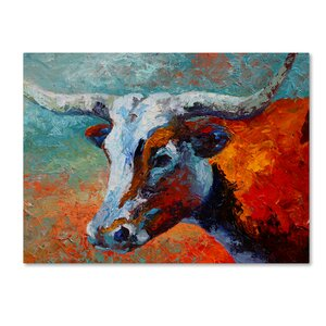 'Young Longhorn' Print on Wrapped Canvas by Latitude Run