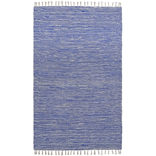 Complex Hand-Loomed Blue Area Rug by St. Croix