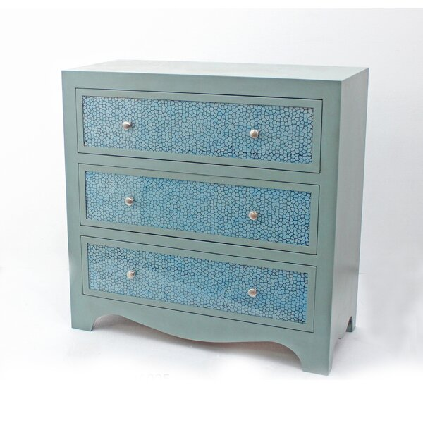 Mabella 3 Drawer Accent Chest by Highland Dunes