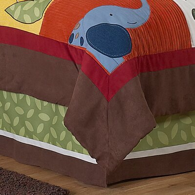 Jungle Time Queen Bed Skirt by Sweet Jojo Designs