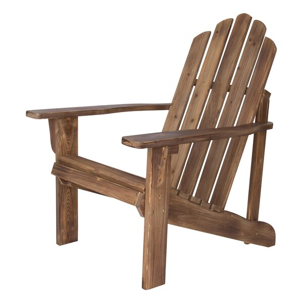 Wood Adirondack Chair by Highland Dunes Highland Dunes