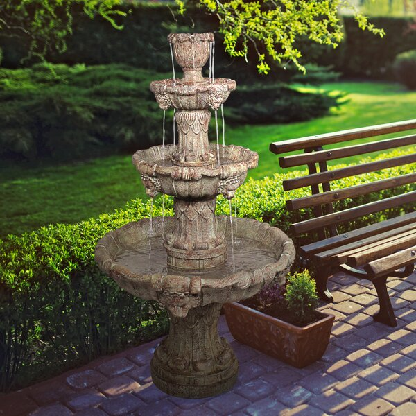 Resin Lion 4 Tier Fountain by Wildon Home ®