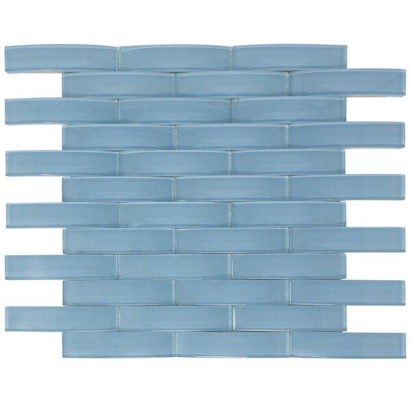 Arched Bridge 3D 1 x 4 Glass Mosaic Tile in Powder Blue by Multile