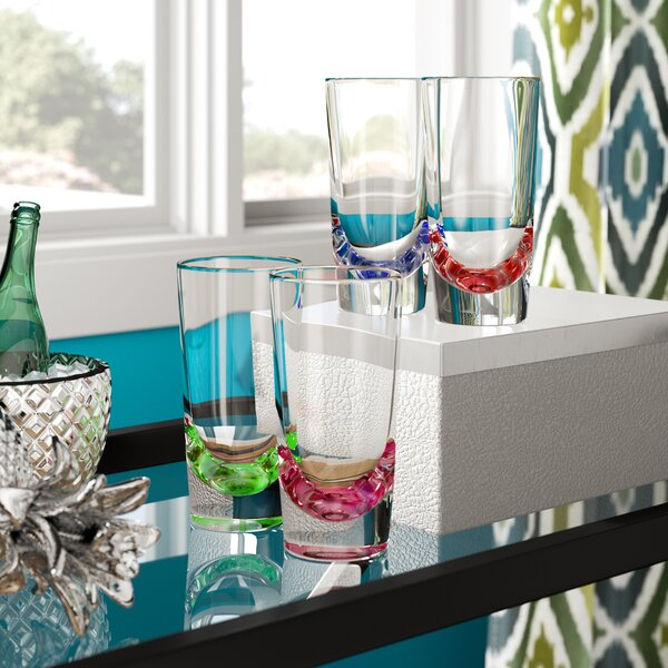 Funkhouser 4 Piece 12 oz. Plastic/Acrylic Every Day Glass Set by Ivy Bronx