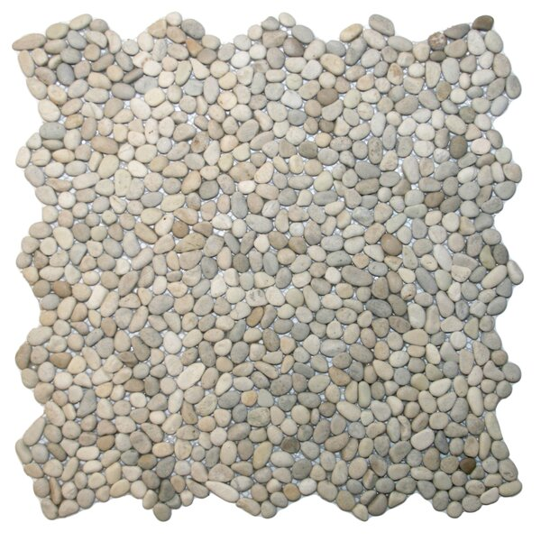 Yangtze Random Sized Natural Stone Mosaic Tile in Java Tan by CNK Tile