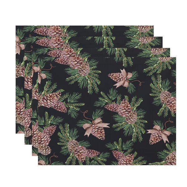 Welliver Greenery Holiday 18 Placemat (Set of 4) by Millwood Pines