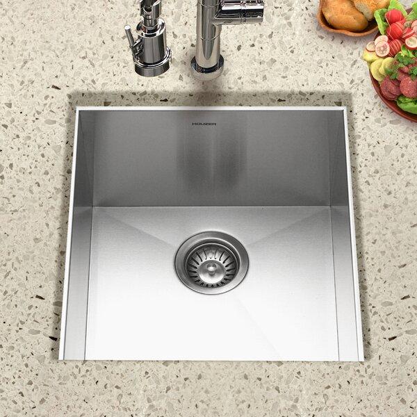 Contempo 18 L x 17 W Zero Radius Undermount Bar Sink by Houzer