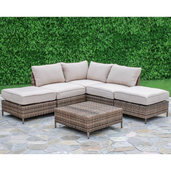 Sophie 6 Piece Sectional Set with Cushions by Beachcrest Home