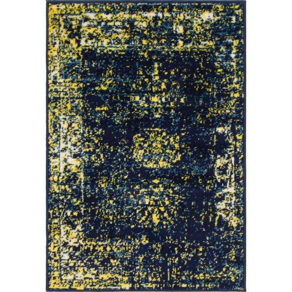 Brandt Navy Blue/Yellow Area Rug by Mistana