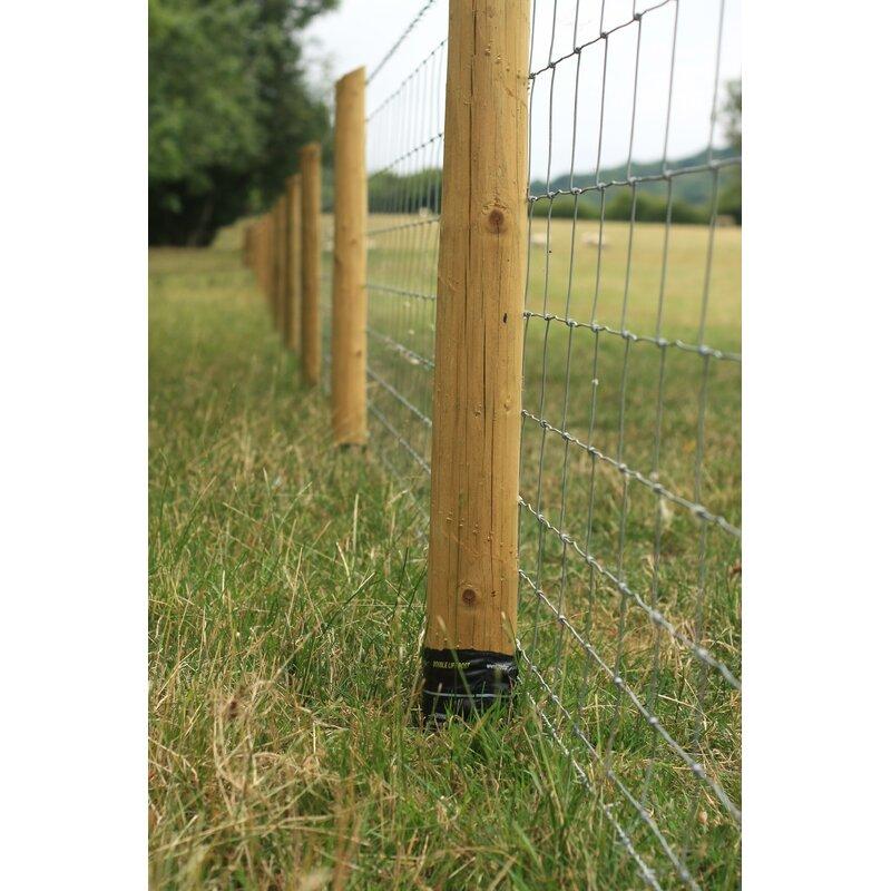 Pack of 10 Fence Post Postsaver Groundline Rot Barrier Sleeves