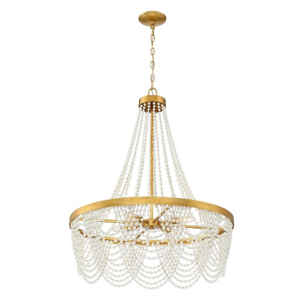 Hobgood 4 - Light Unique Tiered Chandelier with Wrought Iron Accents by House of Hampton House of Hampton