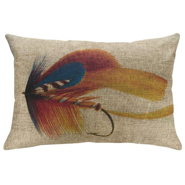 Penman Fly Fishing Linen Throw Pillow by Loon Peak