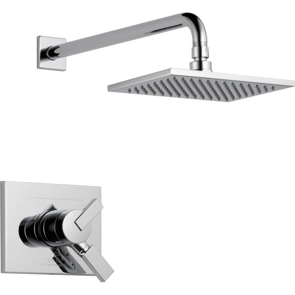 Vero 17 Series Shower Faucet Trim With Lever Handle And Monitor By Delta.