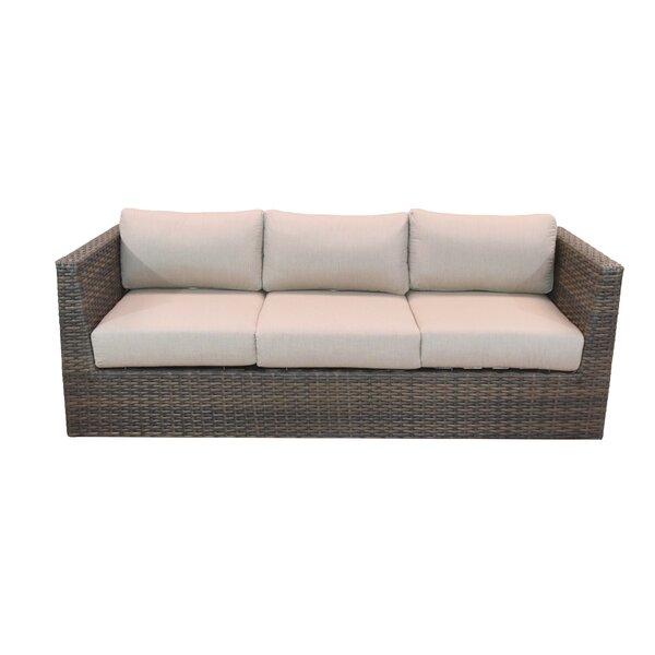 Cribbs Patio Sofa with Sunbrella Cushions by Highland Dunes Highland Dunes