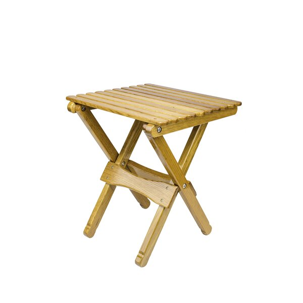 Renard Folding Wooden Side Table by Loon Peak