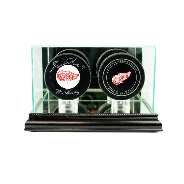 Double Hockey Puck Display Case by Perfect Cases and Frames