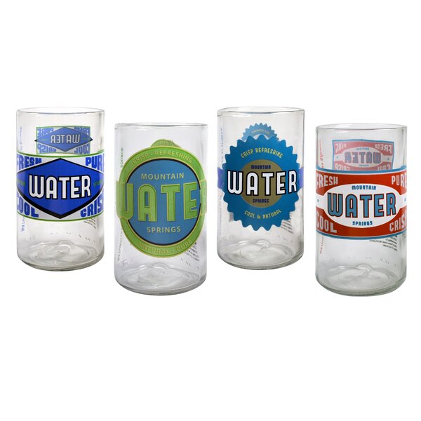 Upcycle Spring Water Juice Glass (Set of 4) by Artland