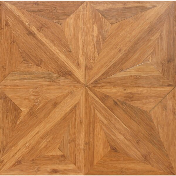 Renaissance Parquet Engineered 15.75 x 15.75 Bamboo Wood Tile by Islander Flooring