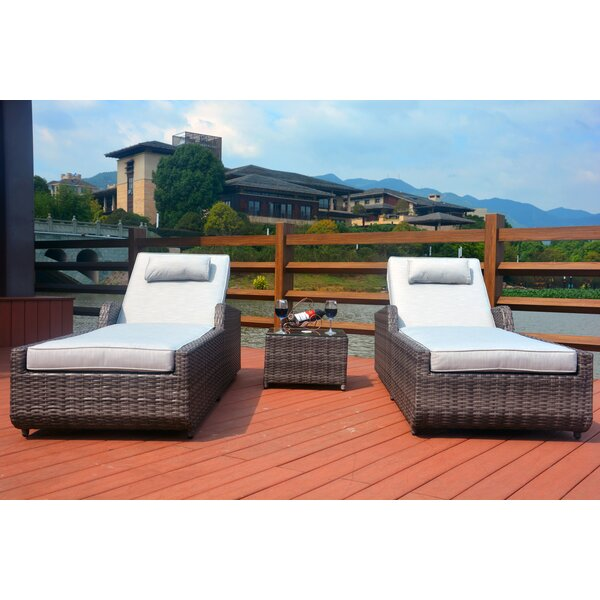 Elberta Reclining Chaise Lounge with Cushion by Brayden Studio Brayden Studio