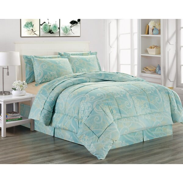 Kress Printed Bed Comforter Set by Charlton Home