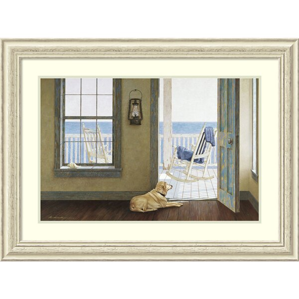 Looking Over the Sea Framed Painting Print by Rosecliff Heights