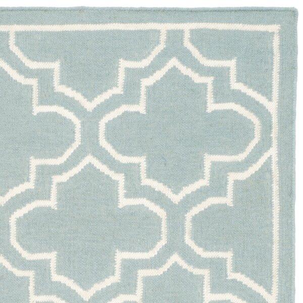 Dhurries Blue/Ivory Area Rug by Safavieh
