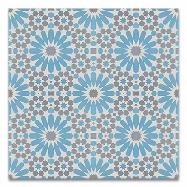 Agdal 8 x 8 Cement Field Tile in Blue/Gray by Moroccan Mosaic