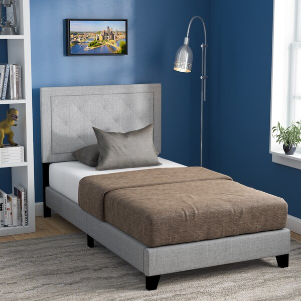 Crader Twin Upholstered Standard Bed by Harriet Bee