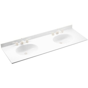 Check Prices Ellipse 61 Double Bathroom Vanity Top By Swan Surfaces
