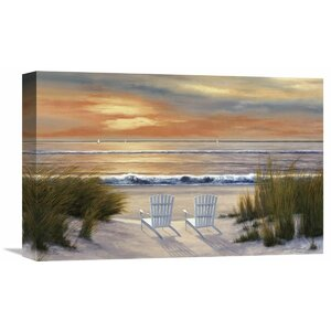 'Paradise Sunset' by Diane Romanello Painting Print on Wrapped Canvas by Global Gallery