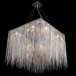 Ahart 8-Light Waterfall Chandelier
