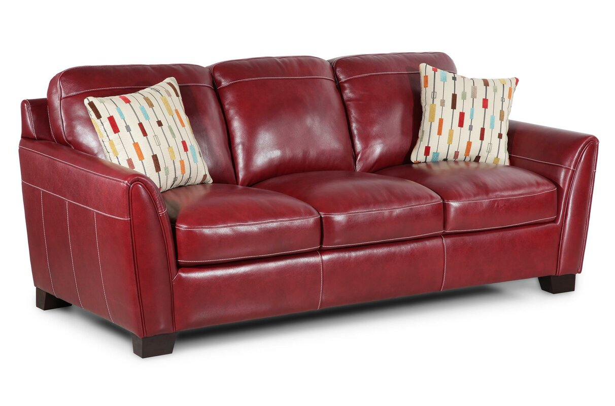 Hahira Leather Sofa By Latitude Run Best Places To Buy Sofas