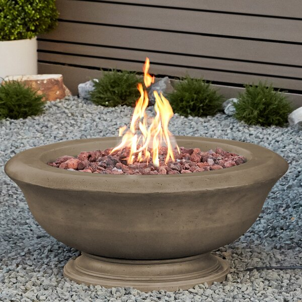 Treviso Concrete Natural Gas Fire Pit by Real Flame