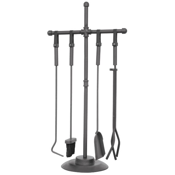 Old World 5 Piece Steel Fireplace Tool Set By Uniflame