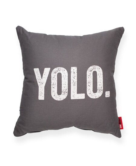 Vonda YOLO Decorative Linen Throw Pillow by Ivy Bronx