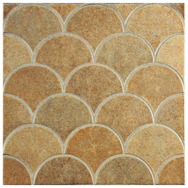 Escame 13.13 x 13.13 Ceramic Field Tile in Beige/Orange by EliteTile