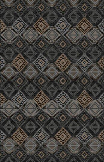 Fontvieille Gray/Brown/Black Area Rug by Loon Peak